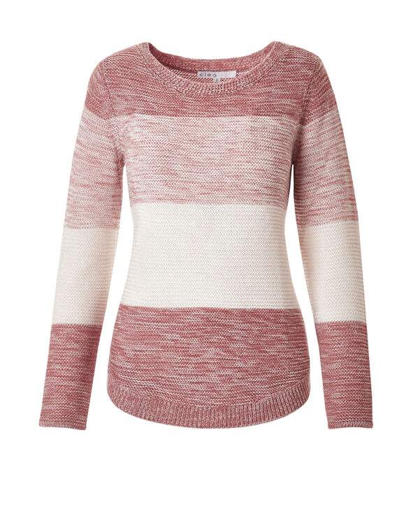 Round Hem Ombre Sweater, Terracotta Ombre, hi-res