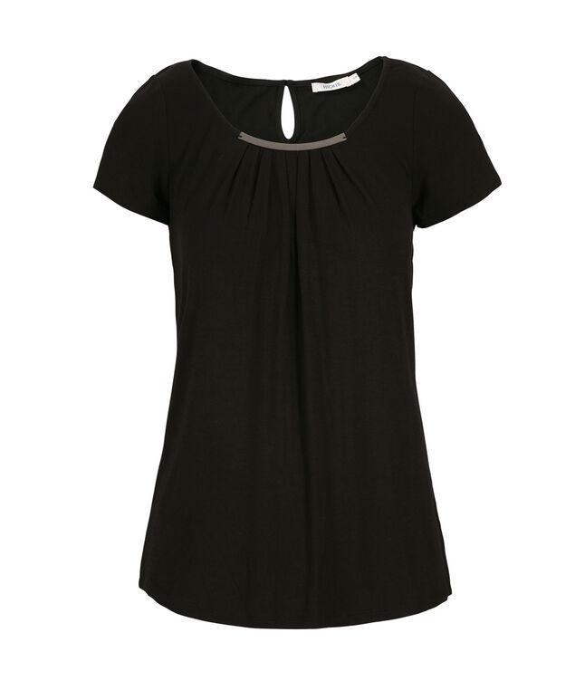 Short Sleeve Hardware Top, Black, hi-res