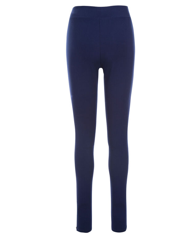 Luxe Ponte Seam Zipper Legging, Midnight Blue, hi-res