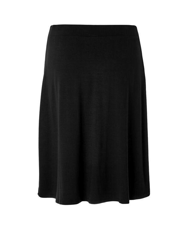 Black Flippy Skirt, Black, hi-res