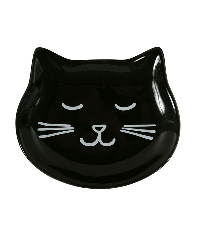 Kitty Smile Tray, White/Black, hi-res