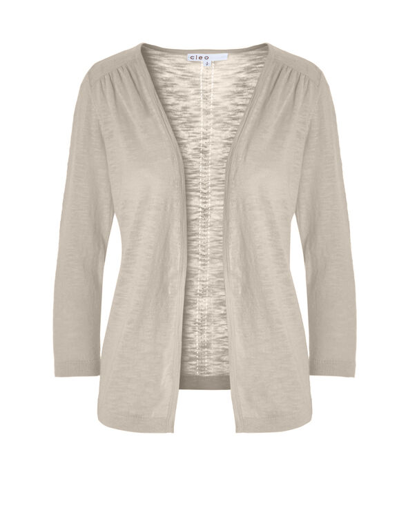 Stone Leightweight Knit Cardigan, Stone, hi-res