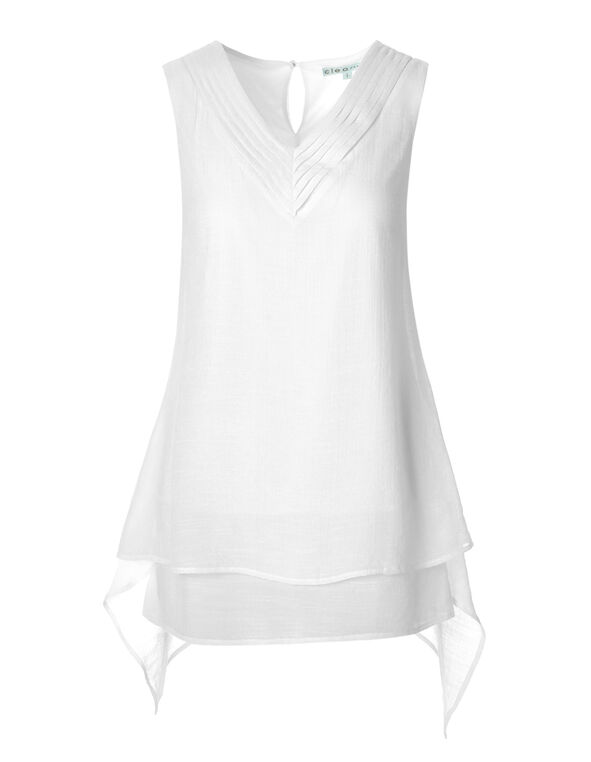 White Sharkbite Tunic, White, hi-res