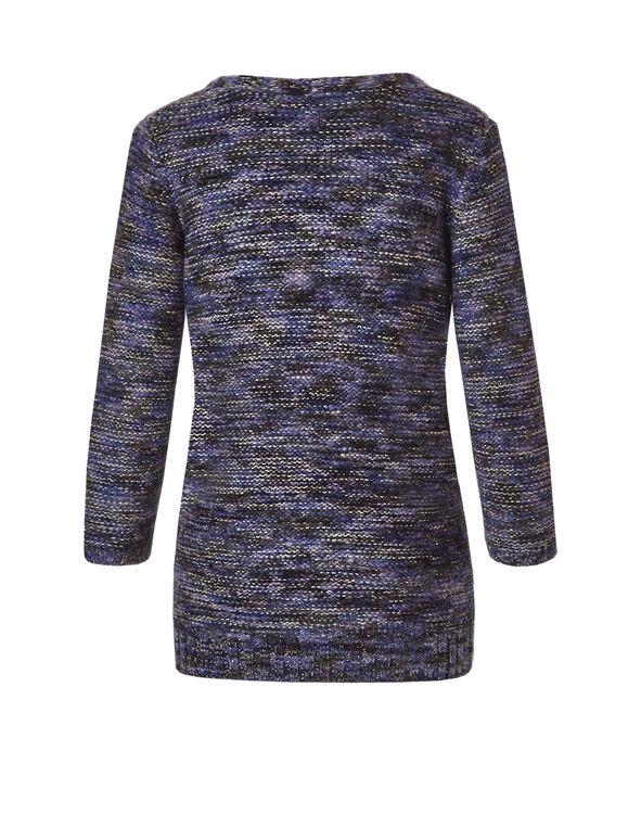 V-Neck Sparkling Purple Haze Sweater, Purple Haze, hi-res