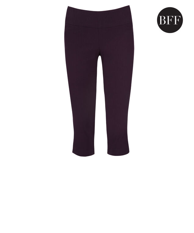 Microtwill Super Slim Leg Capri, Deep Purple, hi-res