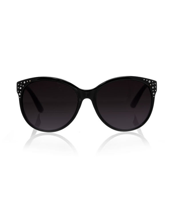 Black Bifocal Sunglasses, Black, hi-res
