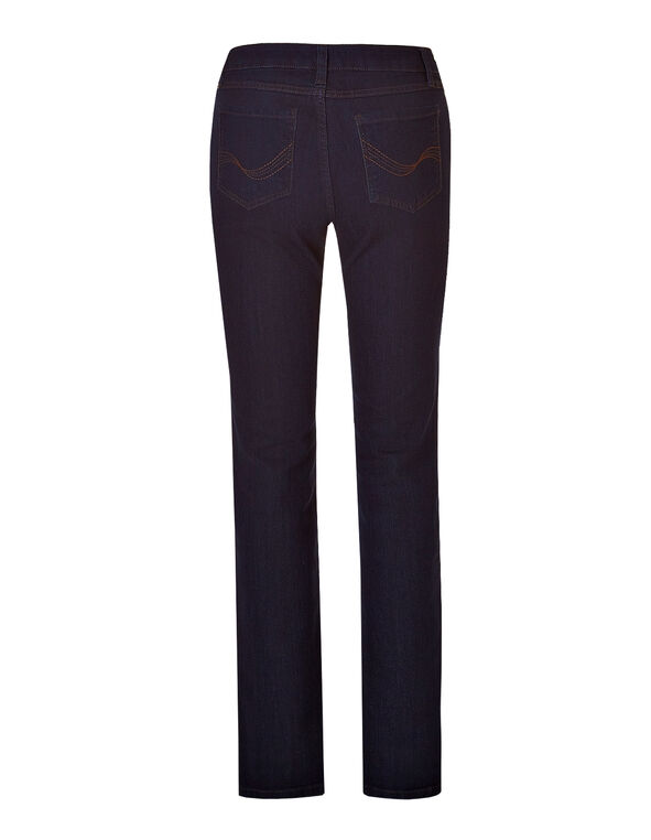 Curvy Fit Straight Leg Jean, Dark Indigo Denim, hi-res