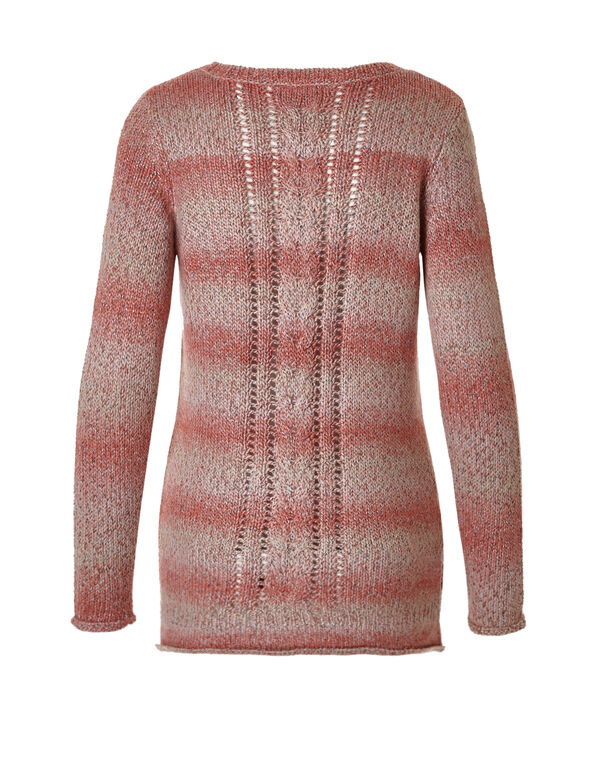 Rosewood Ombre Knit Sweater, Rosewood, hi-res