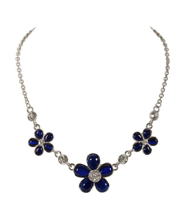 Sapphire Statement Necklace, Sapphire/Rhodium, hi-res