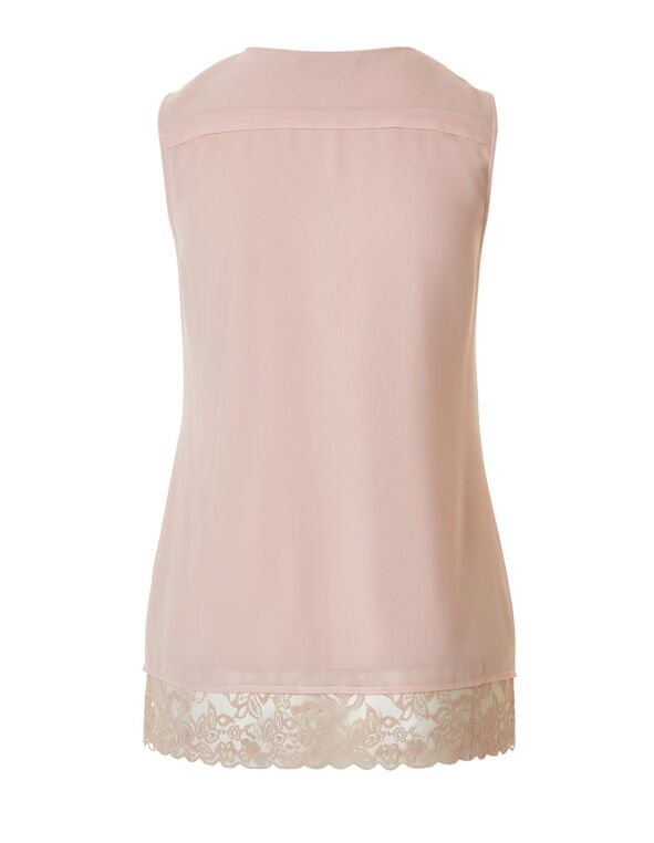 Dusty Pink Lace Blouse, Dusty Pink, hi-res