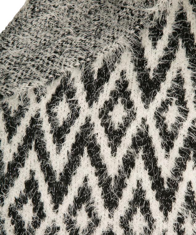 Chevron Intarsia Scarf, Black/Milkshake, hi-res
