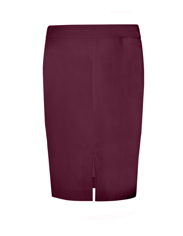 Claret Pull On Pencil Skirt, Claret, hi-res