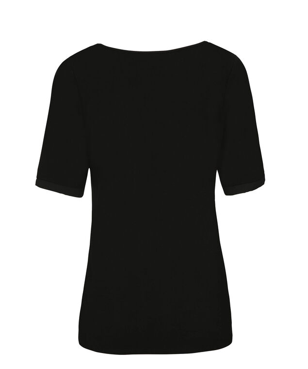 Woven Front Elbow Sleeve, Black, hi-res
