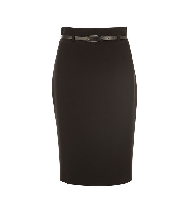 High Waist Pencil Skirt, Black, hi-res