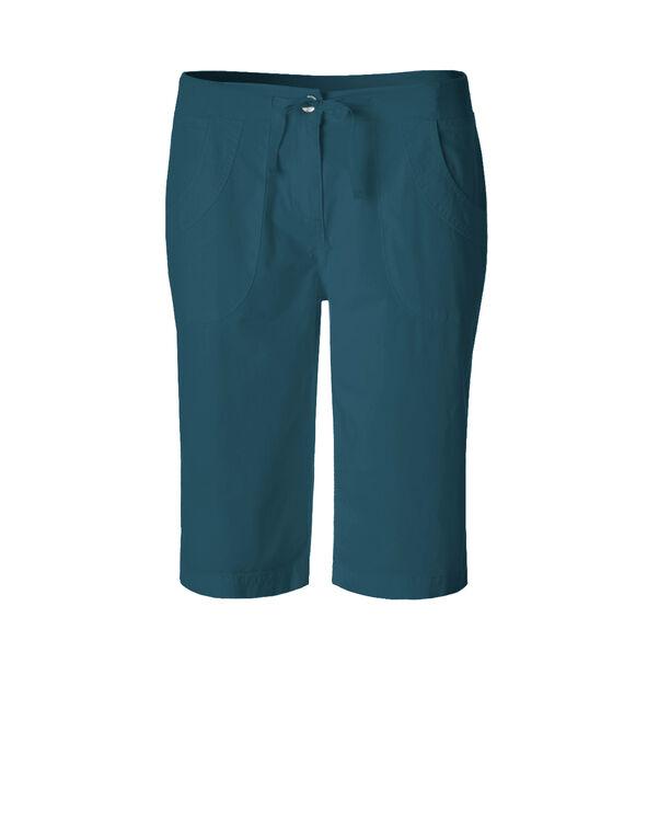 Turquoise Poplin Short, Dark Turquoise, hi-res