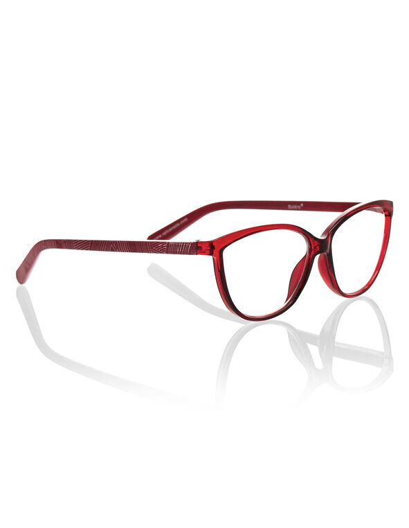 Red Aztec Cateye Reader, Red, hi-res