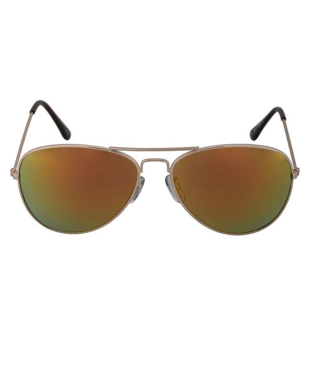 Blue & Green Aviator Sunglasses, Blue/Green/Gold, hi-res