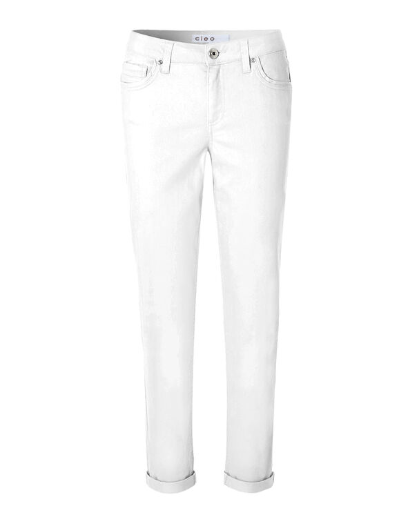 Every Body White Ankle Jean, White, hi-res