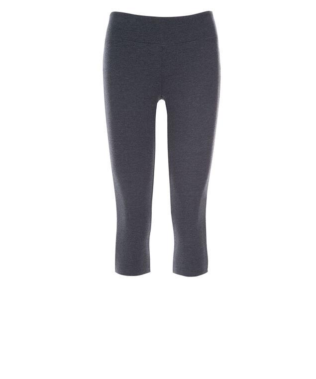 Knit Capri Legging, Indigo Melange, hi-res