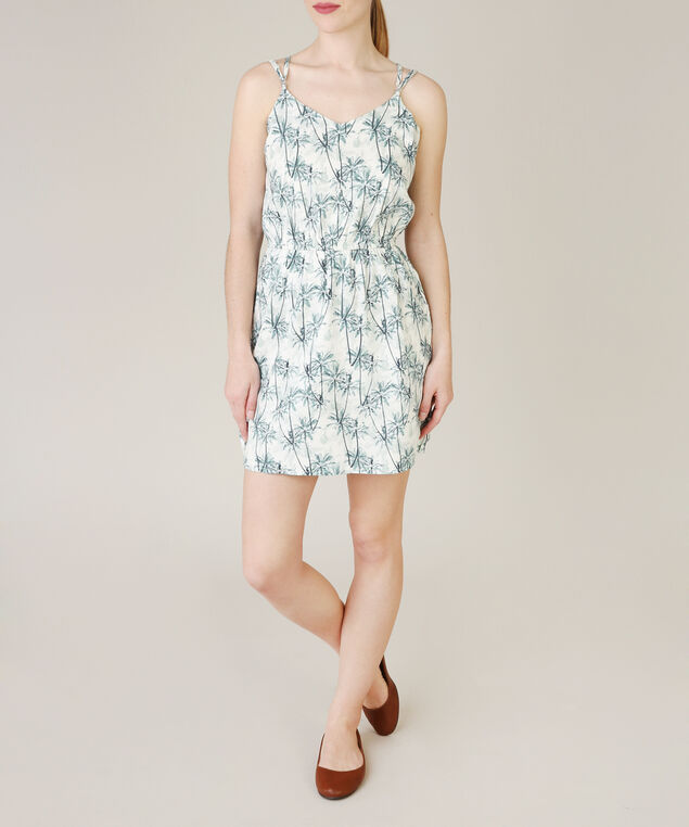 spruce pattern dress, BLUE PATTERN, hi-res