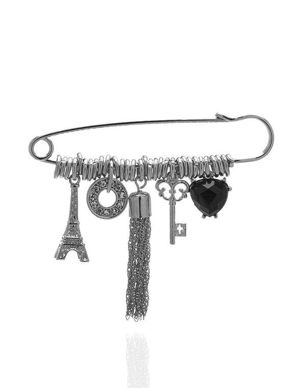 Eiffel Tower Pin, Silver, hi-res