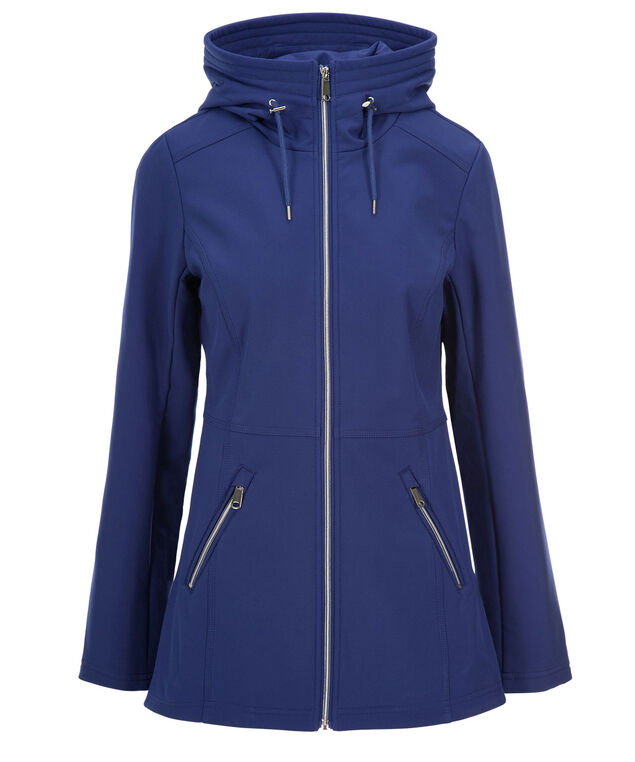 Hooded Zipper Jacket, Cobalt, hi-res