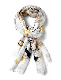 Yellow Floral Textured Scarf