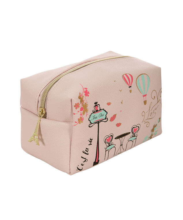 Paris Cosmetic Bag, Pink, hi-res