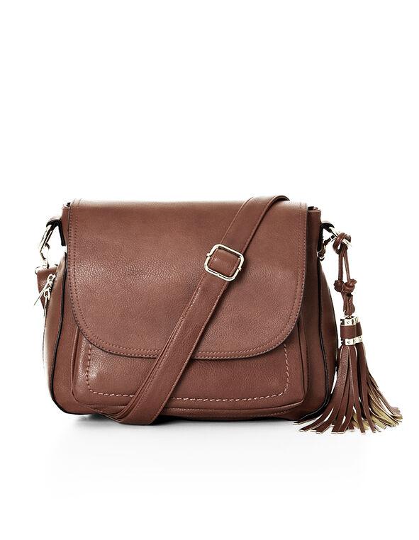 Brown Crossbody Bag, Brown, hi-res