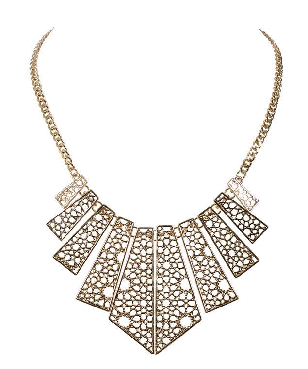 Cutout Rectangle Statement Necklace, Soft Gold, hi-res