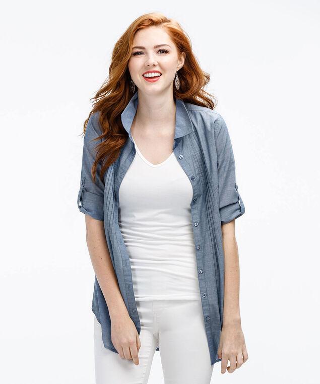 Chambray Shirt, Blue, hi-res