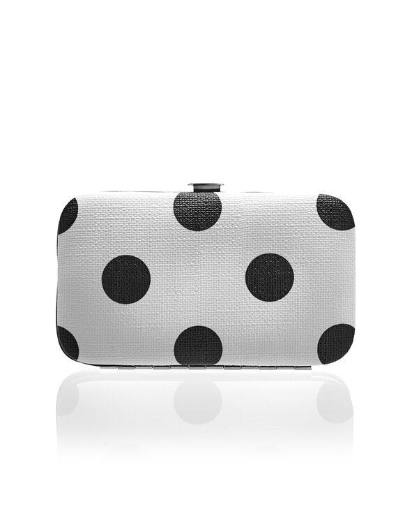 Polka Dot Manicure Set, White/Black, hi-res