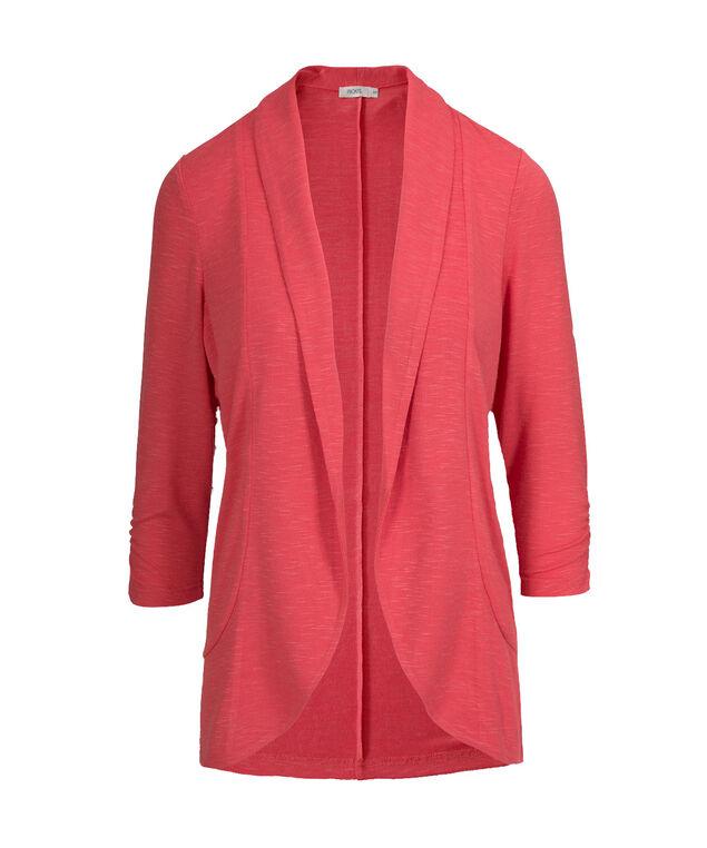 Shawl Collar Cover Up, Strawberry Daiquiri, hi-res
