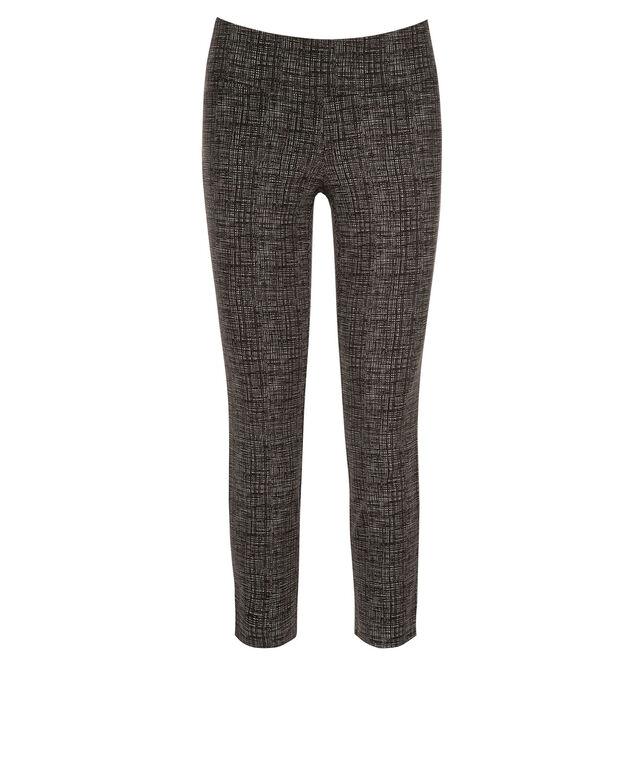 Microtwill Crop Super Slim Leg, Black/White Print, hi-res