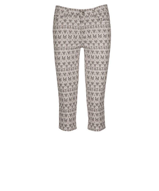 Fly Front Jegging Capri, Neutral Print, hi-res