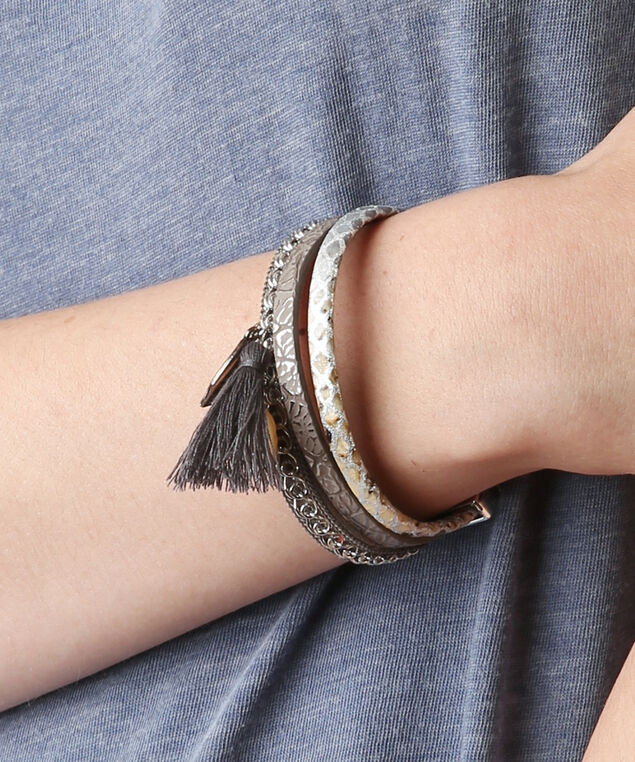 multi leather bracelet, MULTI, hi-res
