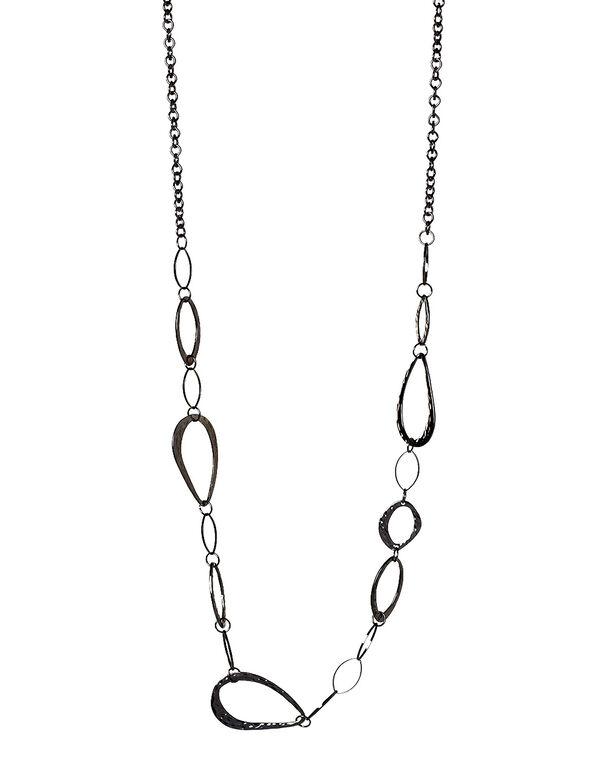 Hemi Hammered Link Necklace, Hemi, hi-res