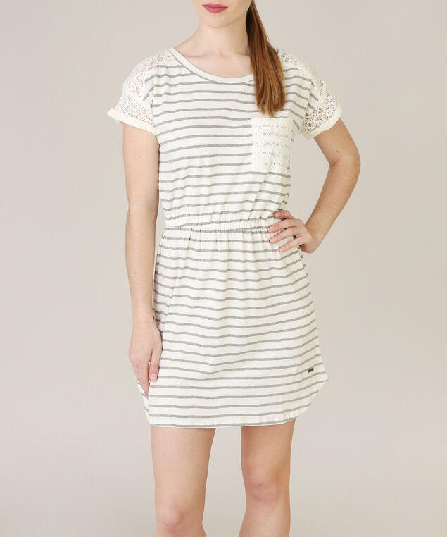 heather grey stripe dress - wb, GREY STRIPE, hi-res