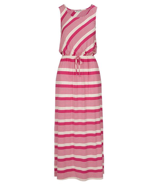 Striped Maxi Dress, Ivory/Fushia, hi-res