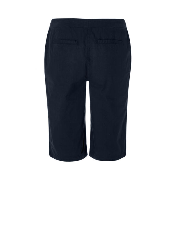Navy Poplin Pull On Short, Navy, hi-res