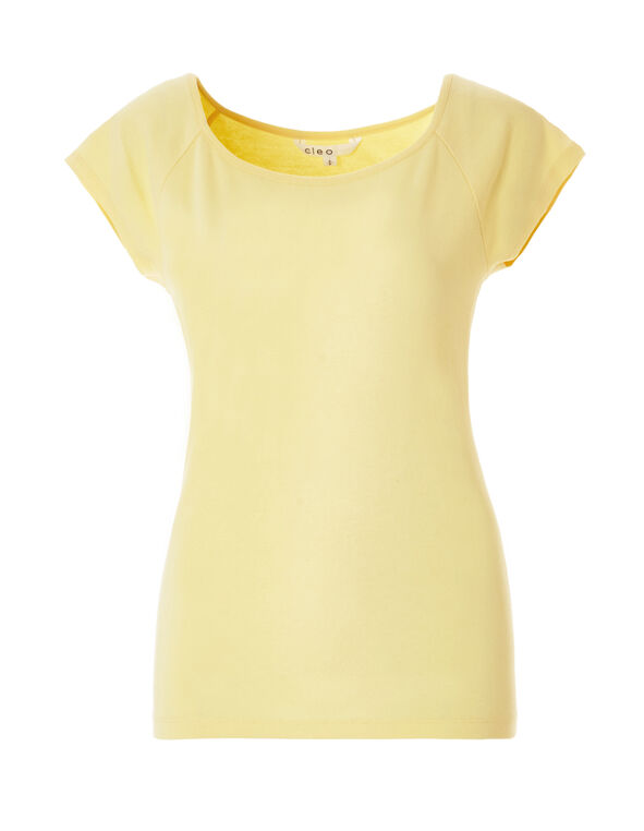 Solid Yellow Tee, Yellow, hi-res