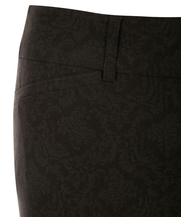 Microtwill Slim Leg, Black Print, hi-res