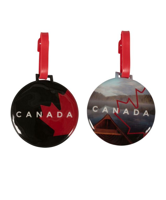 Canada Luggage Tags, Red/Black, hi-res