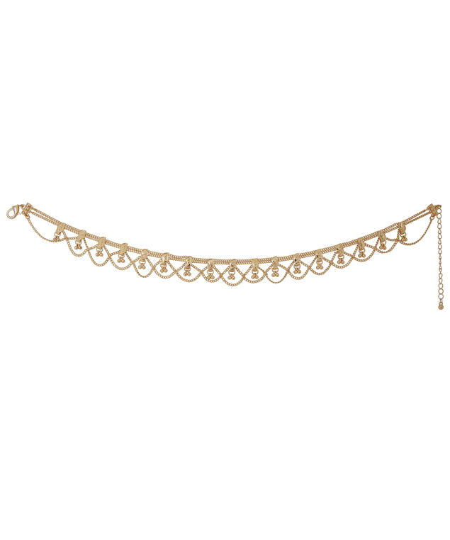 single choker with multi row plating, GOLD, hi-res