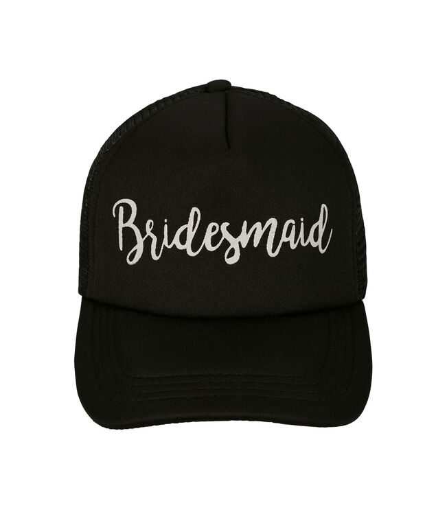 Bridesmaid Baseball Cap, Black, hi-res