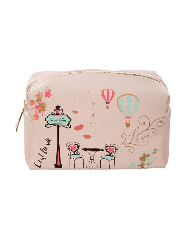 Paris Cosmetic Bag, Pink, hi-res
