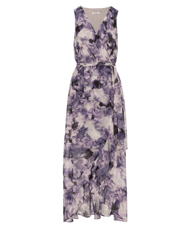 Tulip Skirt Maxi Dress, Purple Print, hi-res