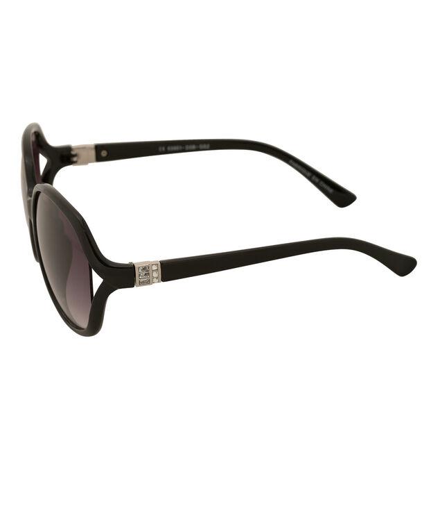 Crystal Arm Detail Sunglasses, Black/Silver, hi-res