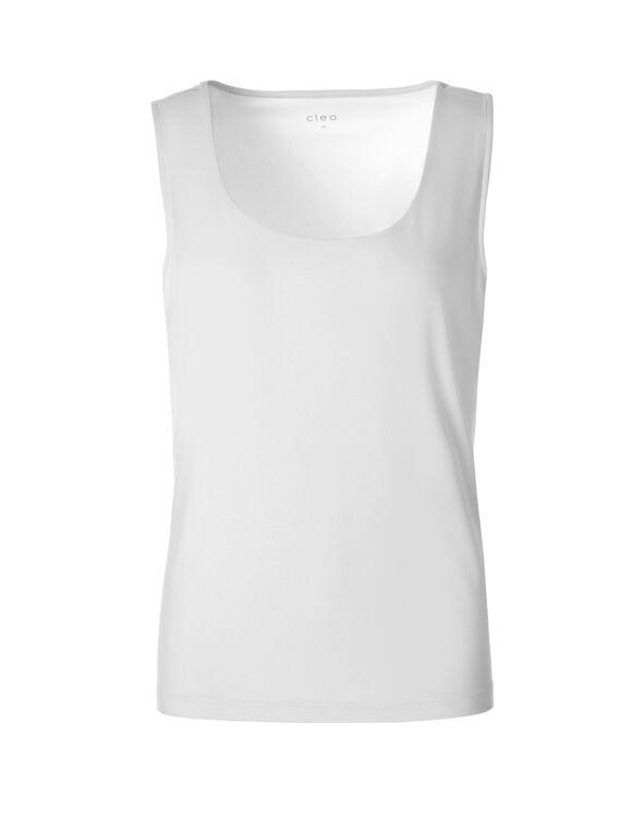 Essential Layering Top, White, hi-res