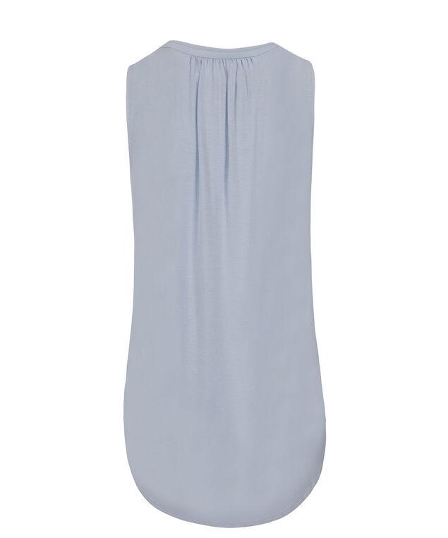 Zip Front Knit Tank, Light Blue, hi-res